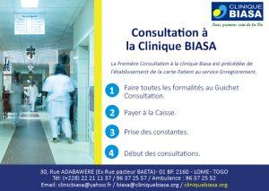 Première consultation en 4 étapes à la Clinique Biasa