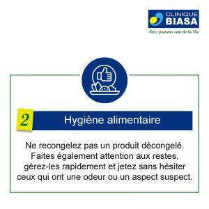 CLINIQUE BIASA – Hygiène alimentaire