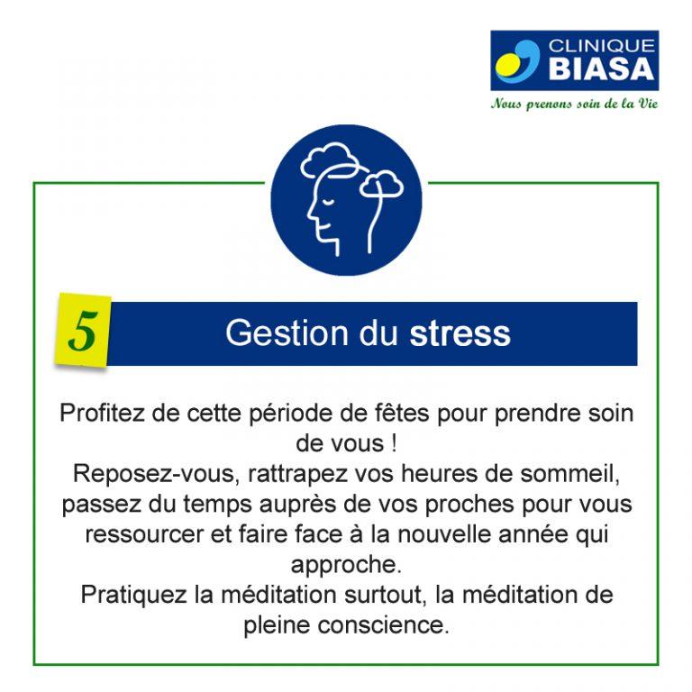 CLINIQUE BIASA – Gestion du stress