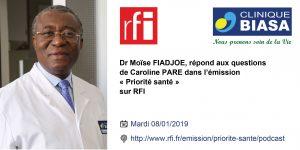 Dr Moïse FIADJOE dans Priorité santé sur RFI